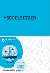 Postkarte Grafik Segelsetzen